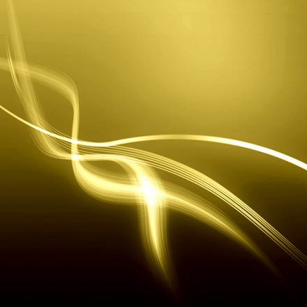 Abstract line curve golden color background texture.