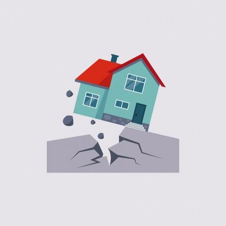Earthquake Insurance Colourful Vector Illustration flat style