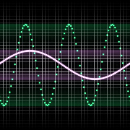digitally created sound wave pattern seamlessly tillable