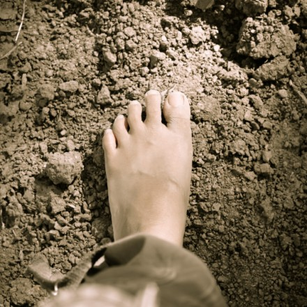 feet walking on Soil